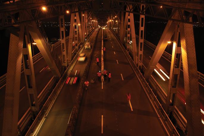 Auckland Harbour Bridge Moveable Lane Barrier